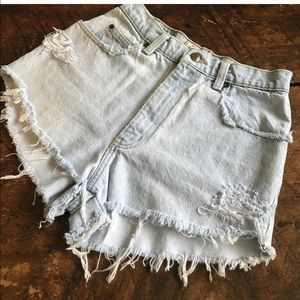 Vintage shorts Distressed Mom High Waist